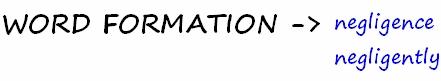 WORDFORMATION_negligent1